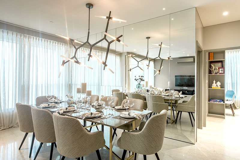 Sky City by Oberoi Realty - dining area