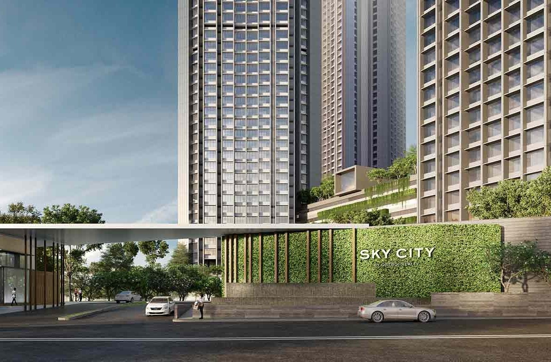 Sky City by Oberoi Realty - entrance