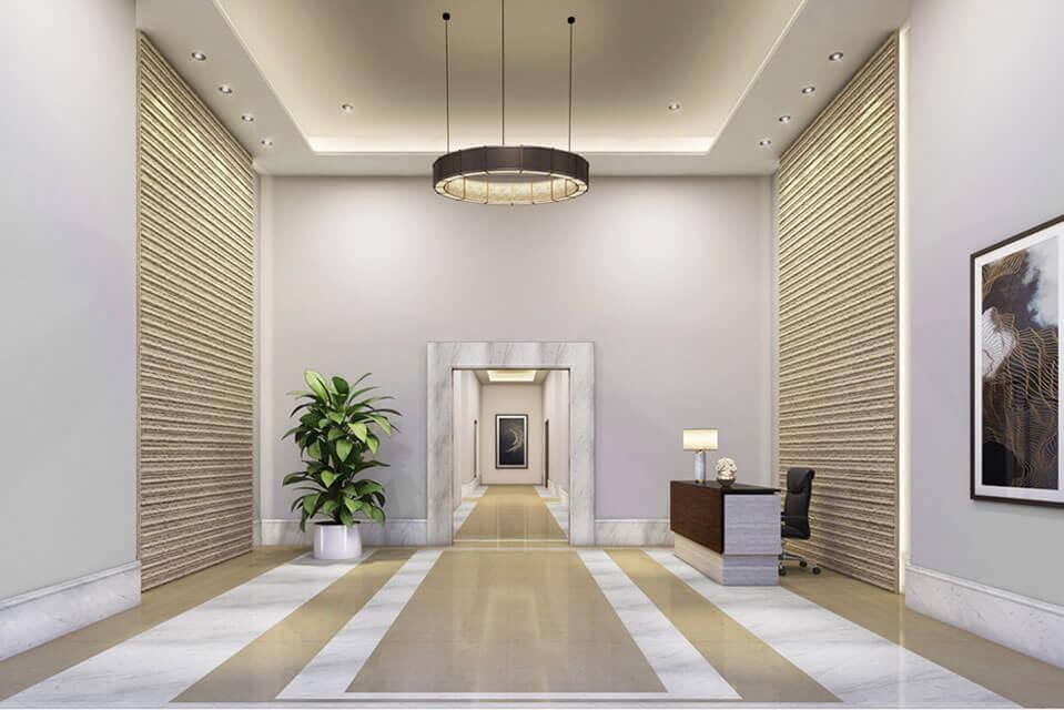 L&T emerald isle powai - Entrance-Lobby