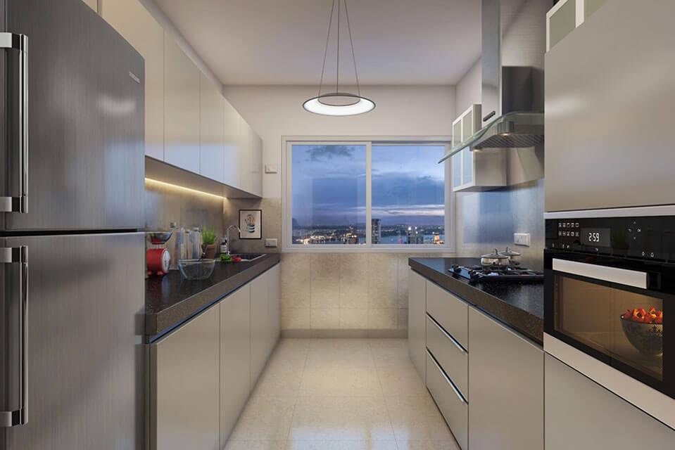 Kitchen-3-BHK Emerald Isle Powai