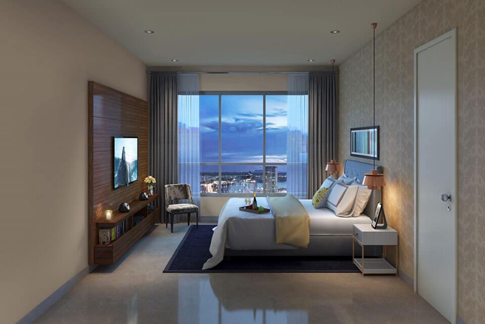 Master-Bedroom-3BHK - l&t Emerald Isle Powai